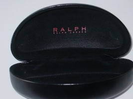 Ralph Lauren Eyeglass or Sunglasses Vaulted Hard Case~Black Faux Leather... - $7.59