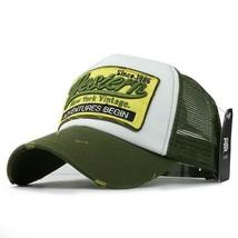 Trucker Casual Baseball Cap Hip Hop Embroidery Mesh Snapback Hats Flexfi... - $10.99