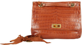 "20000 USD CROCODILE HAPPY LANVIN HAND SHOULDER BAG 12"" NEW - $6,763.50"
