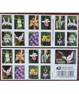 Wild Orchids (USPS) 20 Forever Stamps 9 Species in the United States - $14.95