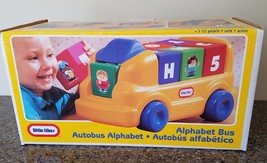 Little Tikes #0853 Alphabet Bus ABC Ride On Bus 7 Blocks Made in the USA... - $49.49