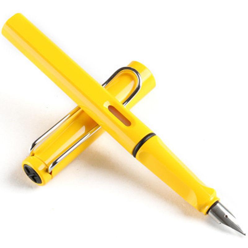 Fashion Yellow Lamy Safari Fountain Pen School Business Office vs original box