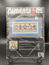 NOS Counted Cross Stitch Kit #3760 Treasure a Friend VTG 1994 Dimensions... - $24.95