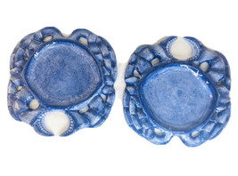 Baum Bros Style Eyes Blue Crab Plate - Seashell Collection Plate set of 2 - $29.69