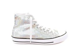 Converse Women CTAS HI 553440C Sneakers Silver/White UK 6 RRP $103 BCF710 - $59.00