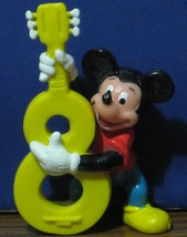 "Disney Mickey Mouse Numeral 8 Bass Fiddle 3"" PVC Birthday Cake Topper Fi... - $4.95"