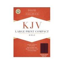 Large Print Compact Bible-KJV-Snap Flap Holman Bible Staff - $29.09