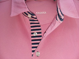Byron Nelson Men's Performance Golf Polo Shirt, Pink with Navy Accent, L - $44.55
