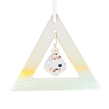 Aluminum and Crystal Triangle Ornament - Bell image 6