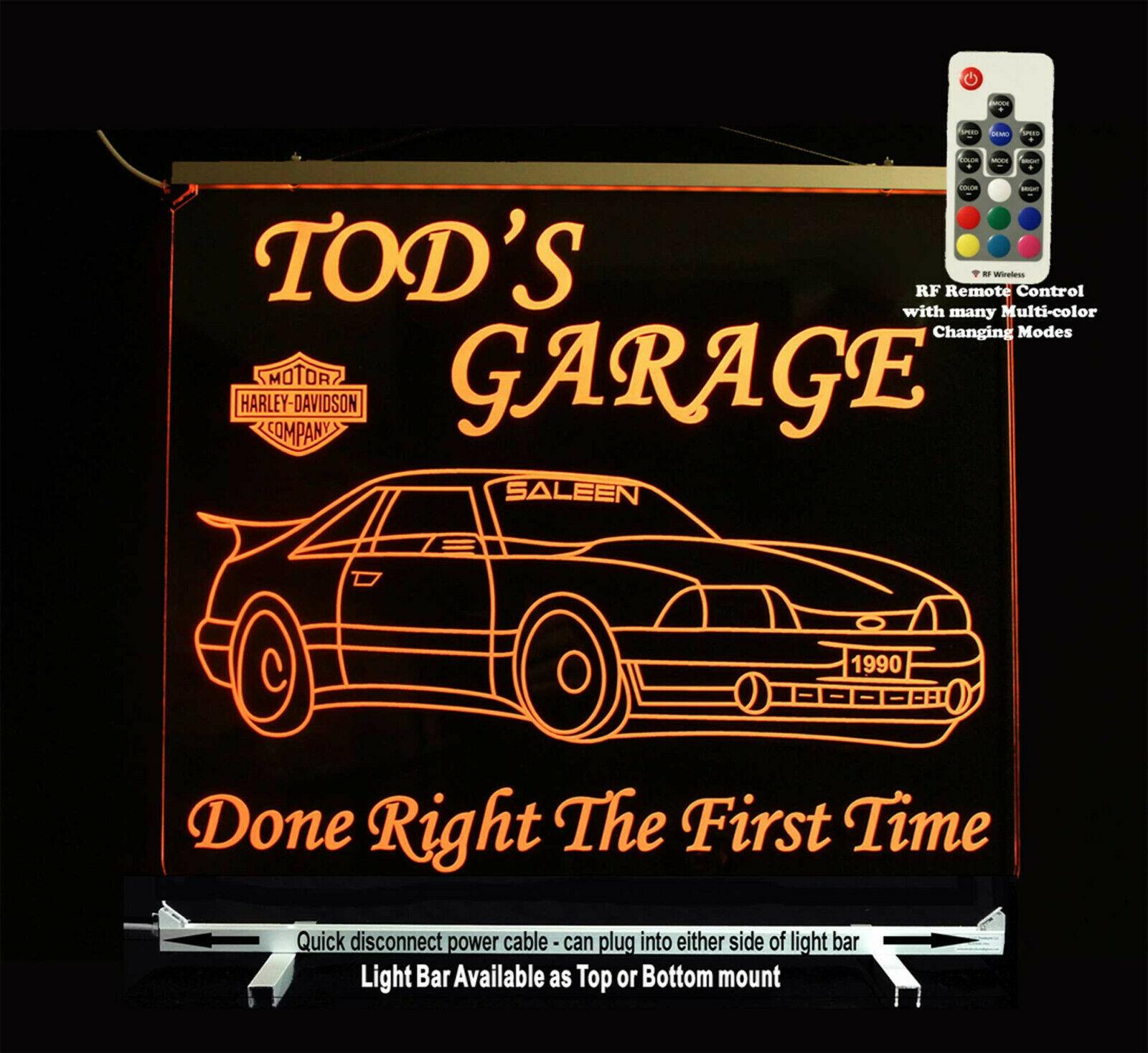 Custom LED Mustange sign, Man cave Sign, Garage sign, Gift for Dad