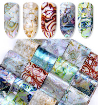 16 Styles Shell Starry Holographic Decals Nail Art Sticker Salon Manicur... - $14.70