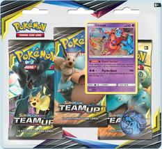Pokemon TCG Team Up Blister Pack Deoxys Promo 3 Booster Packs - $15.99