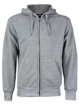 Men's Cotton Blend Zip Up Drawstring Fleece Lined Sport Gym Sweater Hoodie image 6