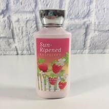 Bath Body Works Sun-Ripened Raspberry 8 oz Shea & Vitamin E Body Lotion ... - $10.50