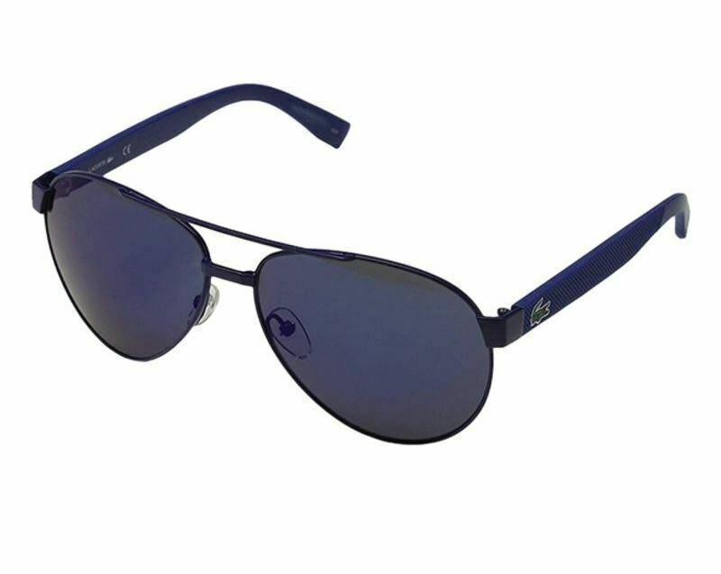 LACOSTE Men's Pilot Sunglasses L185S 424 Matte Blue L185 60mm Large NEW - $163.30
