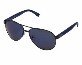 LACOSTE Men's Pilot Sunglasses L185S 424 Matte Blue L185 60mm Large NEW - $163.30