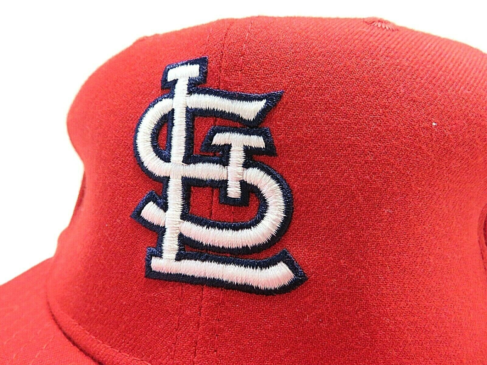 VTG New Era St.Louis Cardinals MLB Baseball Fitted Hat Adult Size 7 3/4 USA Made image 2