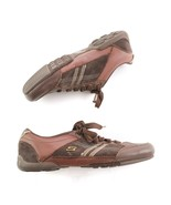 Skechers Brown Leather Suede Fashion Sneakers Comfort Shoes Womens 8 SN 46955 - $29.52