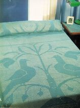 Turtledoves Bedspread Mat Bolster Curtain Picture Runner Doily Crochet P... - $11.99