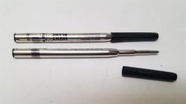 "Montblanc 2 Broad Ballpoint Pen Refills Mystery Black 116191 ""USED"" - $12.86"