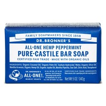 Dr. Bronners Pure-Castile Bar Soap - Peppermint 5oz. (Pack of 3) - $24.28