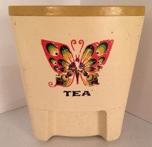 Vintage Butterfly Tea Canister  Triangular Kitc... - $4.94