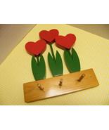Heart Tulip Pegs - $8.00