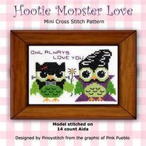 Hootie Monster Love halloween cross stitch chart Pinoy Stitch - $7.20