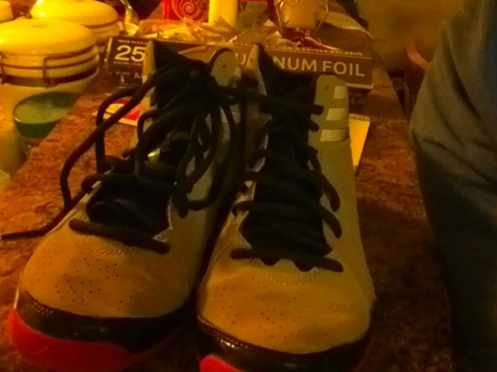 ADIDAS RED Next Level Speed 2 GRAY SUEDE BASKETBALL SNEAKERS SIZE 5