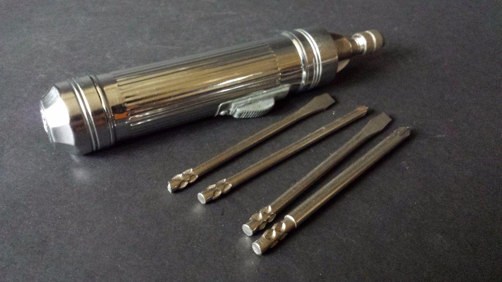 Vtg Apex Screwdriver and Bit Set Metal Handle