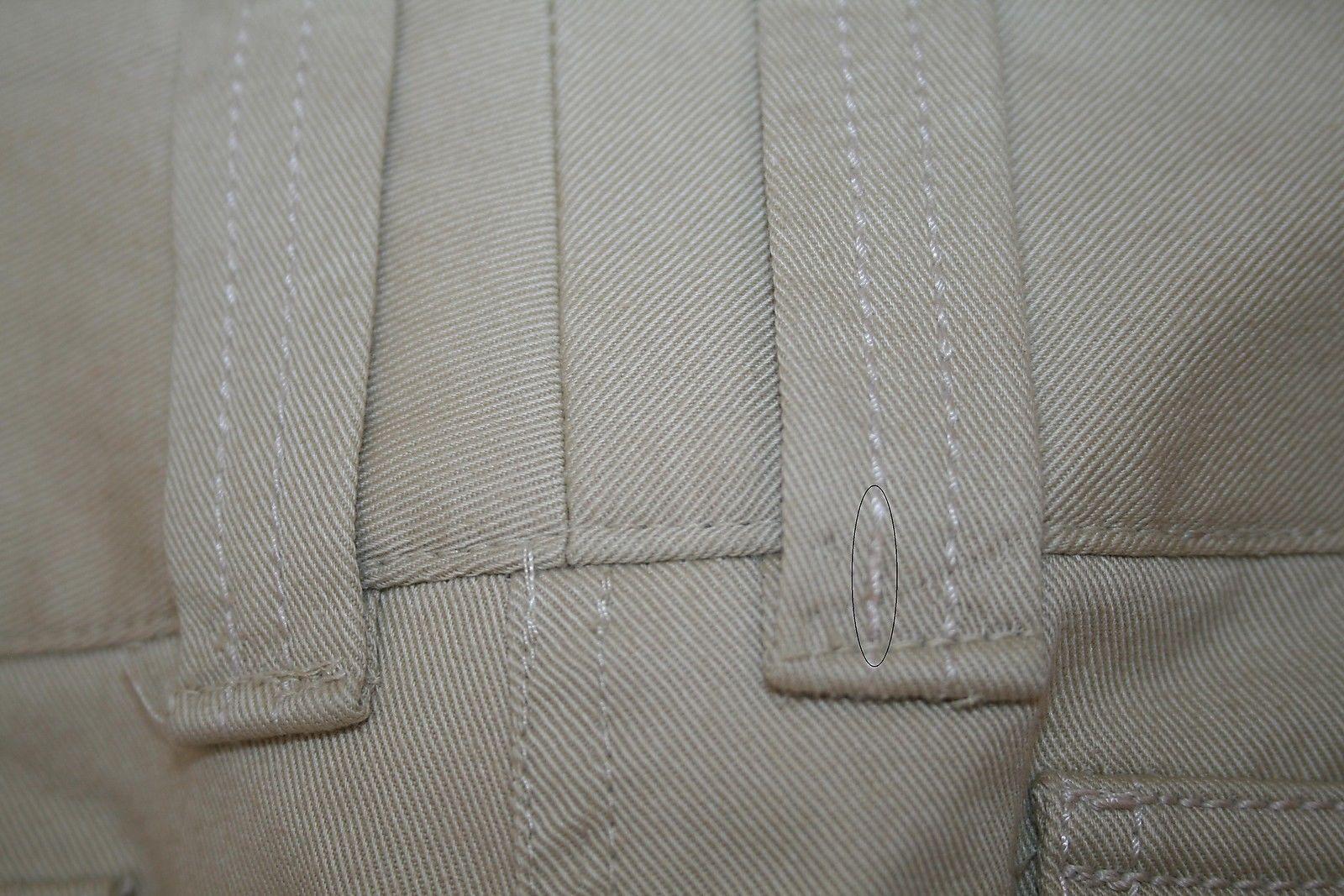 DOLCE & GABBANA Beige Cotton Crystal Logo Pocket Hardware Pants Size 42 US 6/8