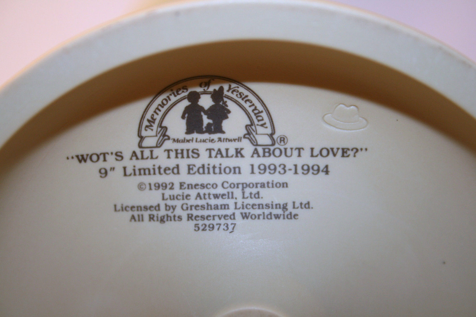 "1992  Memories Of  Yesterday ""Wot's All This Talk About Love?"" 529737 Large 9"""