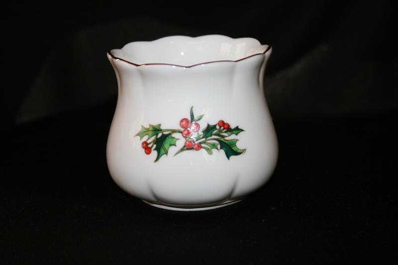 Waldman House A Cup of Christmas Tea Votive Candle Holder   #1810