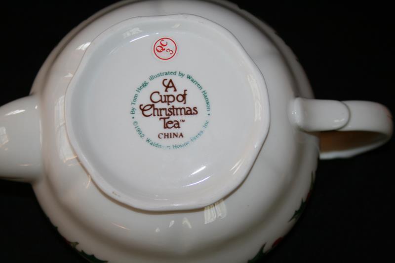 Waldman House A Cup of Christmas Tea Hegg Hanson 3 Cup Tea Pot with Lid  #1811