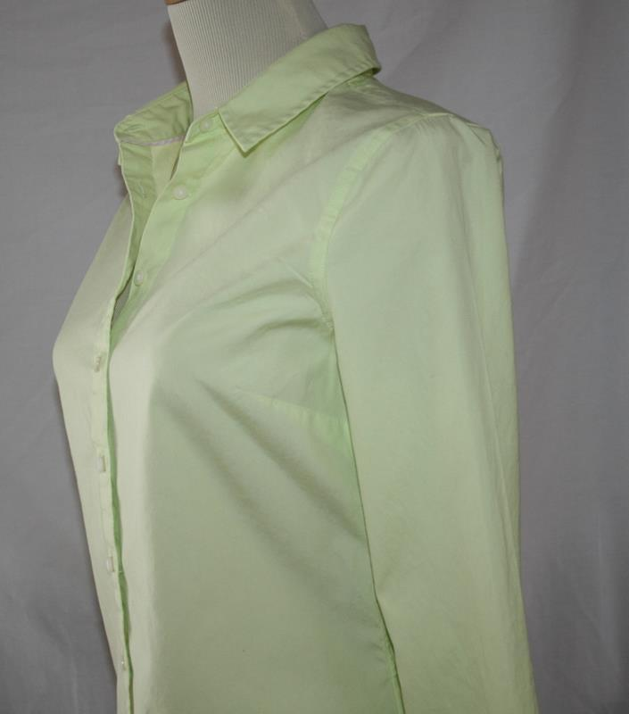 Tommy Hilfiger Light Lime Green Cotton Button Front Shirt Size 6 -NOWT- #2019