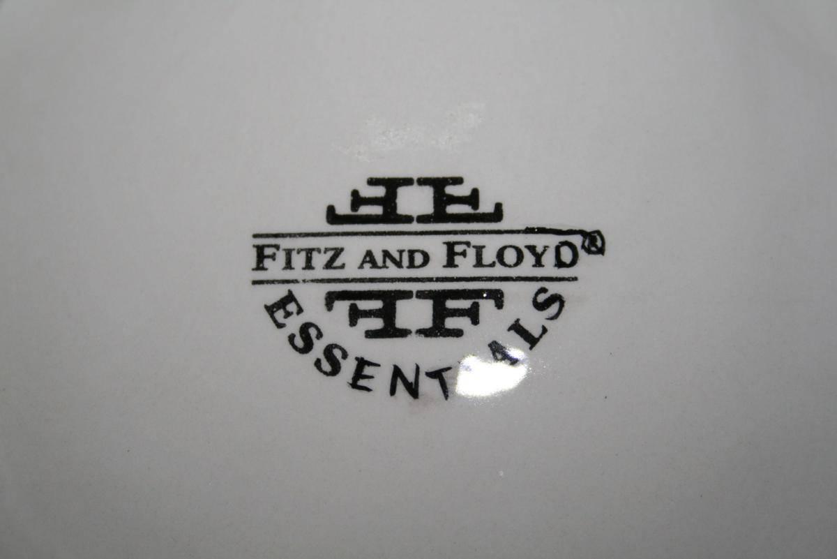 Fitz & Floyd Essentials Santa with Wreath Canape Plate  MIB  #1396