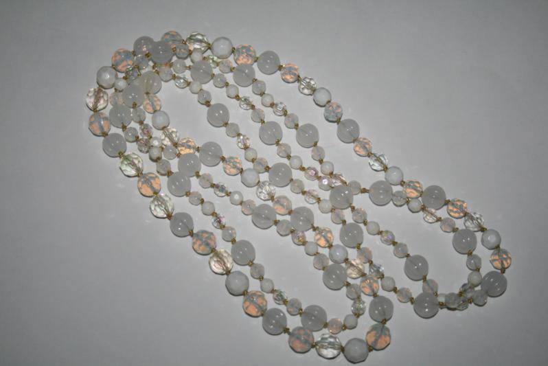 "Joan Rivers White Opalescent 60"" Beaded Necklace   J157RJ"