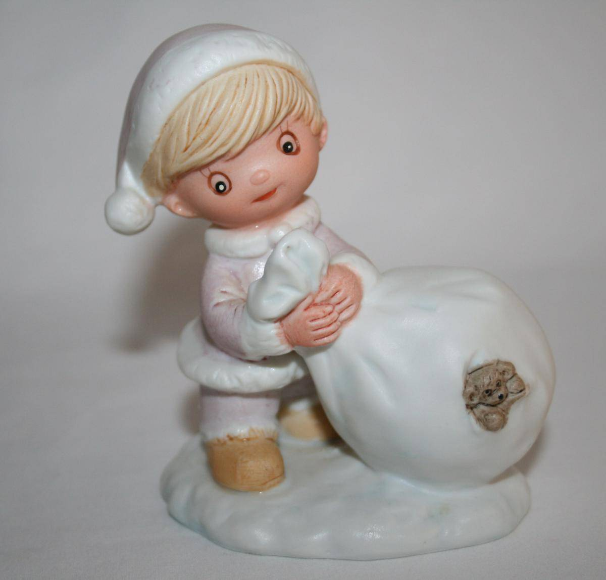 HOMCO #5613 Christmas Children Boys Figurines Set of 3    #1483