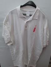 Coca-Cola White Gildan Polo 100% Cotton XL 100th Anniversary Vintage- BRAND NEW - $27.72