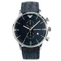 Emporio Armani AR1690 Denim Strap Blue Dial Chronograph Watch - $154.99