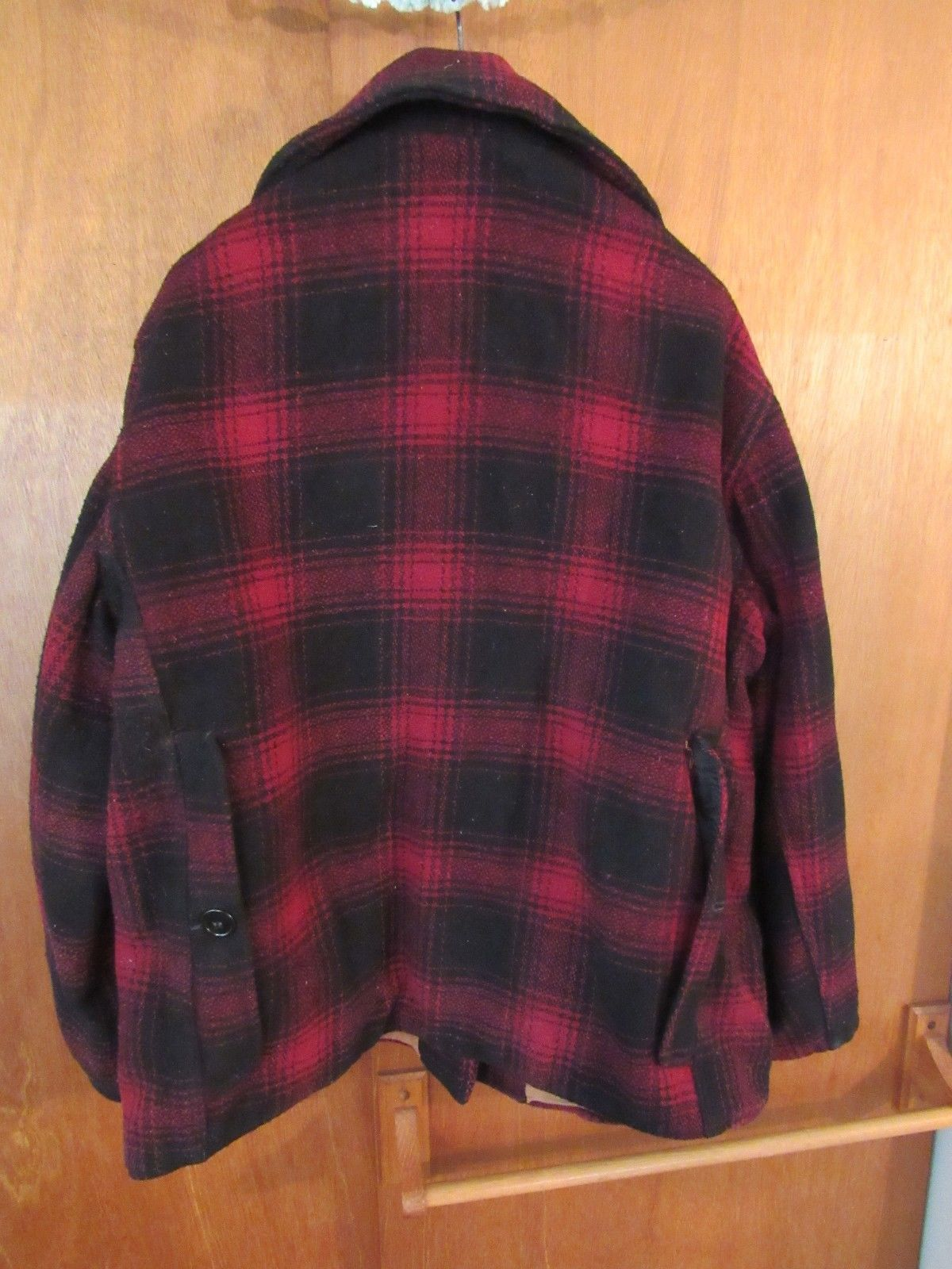 Vintage Drybak Heavy Weight Wool hunting Coat Rain Proof Snag Proof