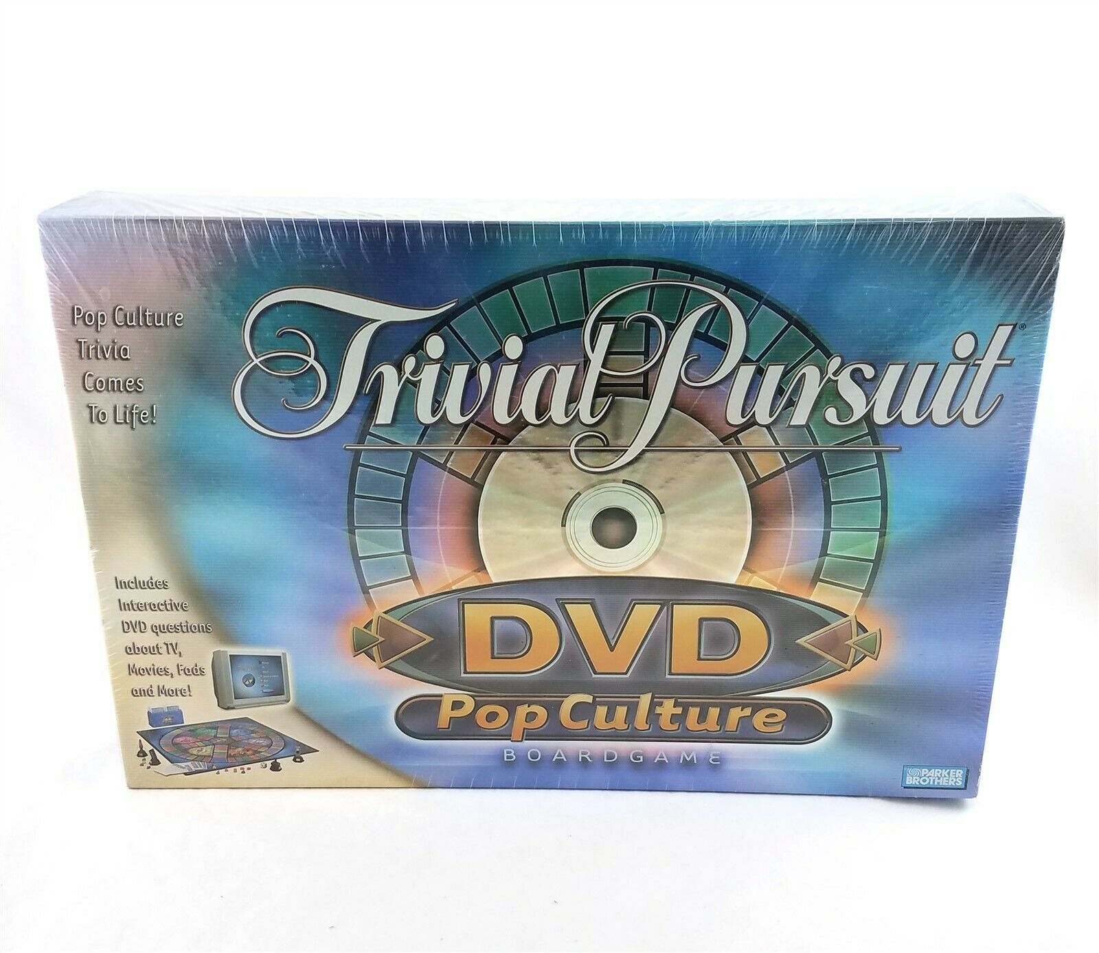 Primary image for Trivial Pursuit DVD Pop Culture Family Board Game NEW Sealed Hasbro 2003