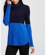 Ann Taylor colorblock cowl-neck cashmere sweater, size XL, NWT - ₹13,156.62 INR