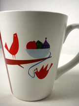 Starbucks 2011 Christmas Holiday Tall Mug Cup Partridge Bird Tree Ornaments - $12.73