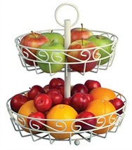 Deluxe Tiered Fruit Basket Stand For The Counte... - $29.77