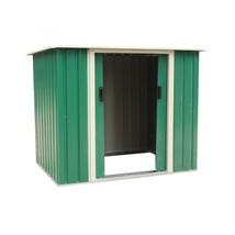 Garden Metal Shed Oudoor Storage Unit Steel Sturdy Cabin Home 2 Door Log... - $227.22