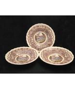Vernon Kilns 1860 Poppytrail Rimmed Soup Bowls ... - $36.00
