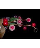 5 Ft Holiday Red Berry Green Leaf Garland Country 60 inches long wired - $11.75
