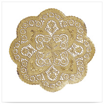 12 inch Gold Foil Round Lace Doily/Case of 500 - ₨18,041.44 INR