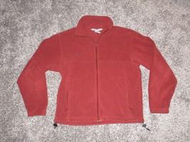 Men's Columbia Fleece Jacket, Burnt Orange, Size Medium - $12.82